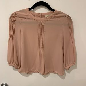 Blush pink blouse great for casual or evening